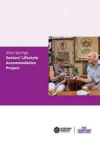 Front cover of the Alice Springs Seniors' Lifestyle Accommodation Project brochure